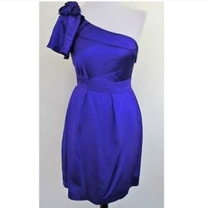 Gianni Bini Royal Purple One Shoulder Dress